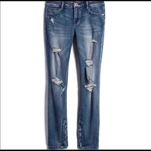 Pistola Tory Distressed Ankle Zip Skinny Jeans